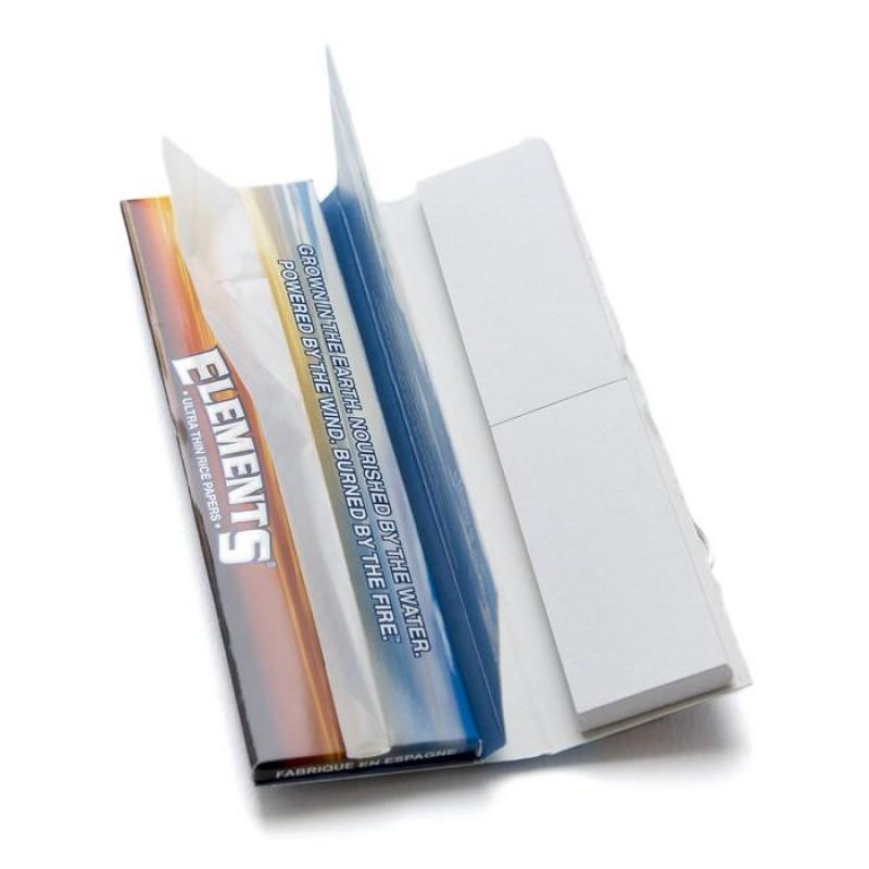 Бумага для самокруток Elements Ultra Thin Connoisseur King Size Rice