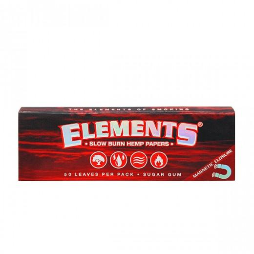 """Бумага для самокруток Elements Red 1¼"""" Hemp"""