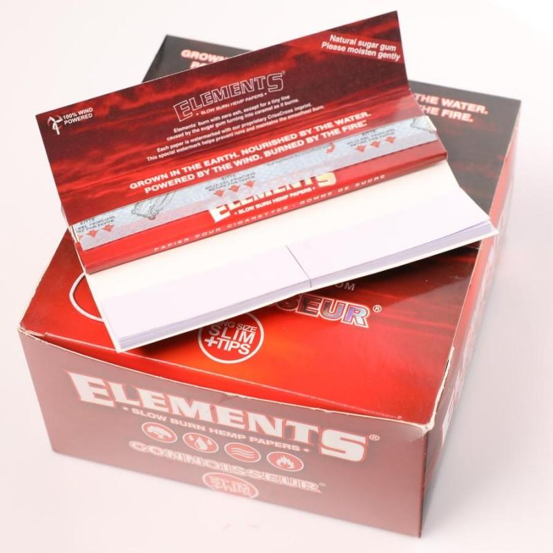 Бумага для самокруток Elements Red Connoisseur King Size Hemp