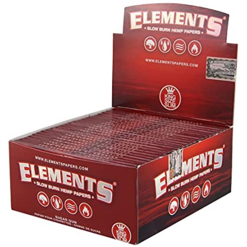 Бумага для самокруток Elements Red King Size Hemp