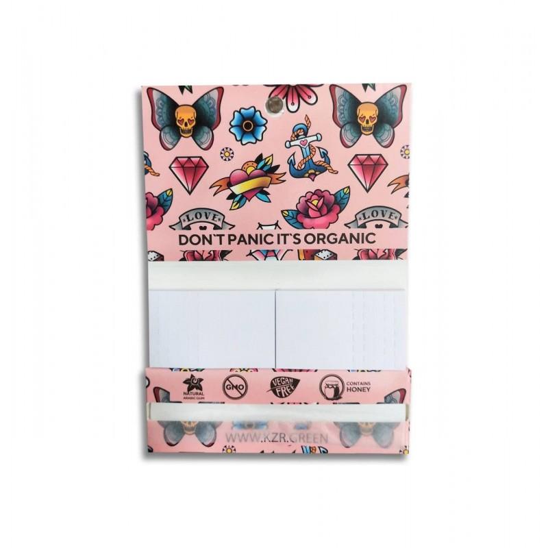 Бумага для самокруток KZR Tattoo Pink Single Wide Rice