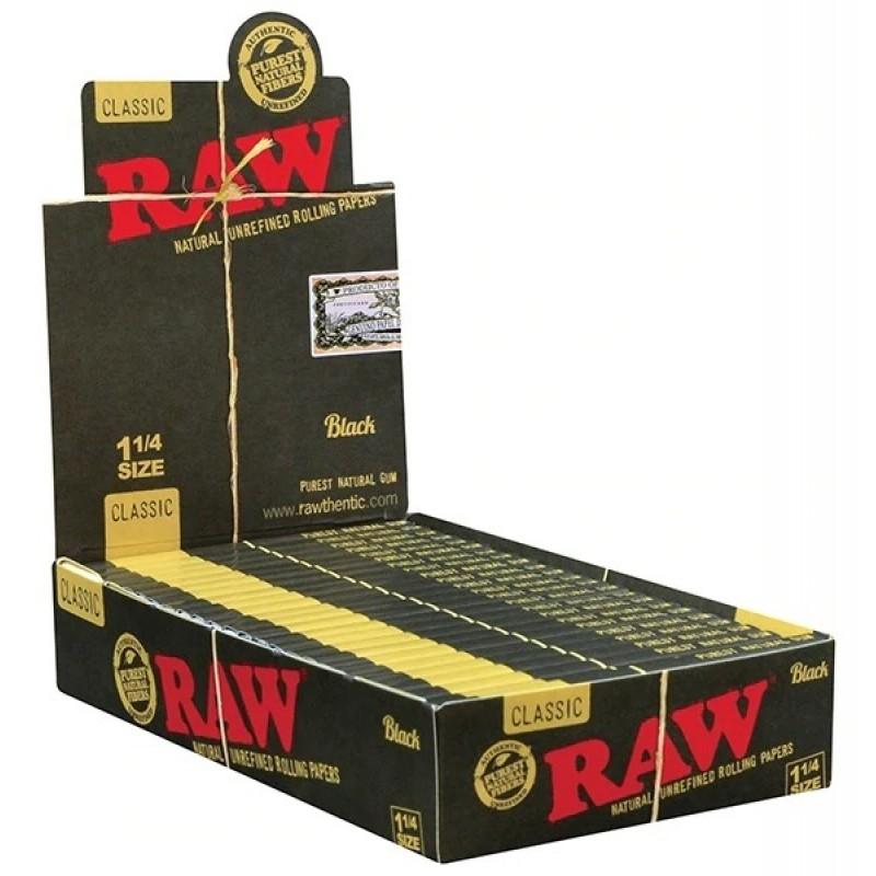 """Бумага для самокруток RAW Black Ultra Thin 1¼"""""""