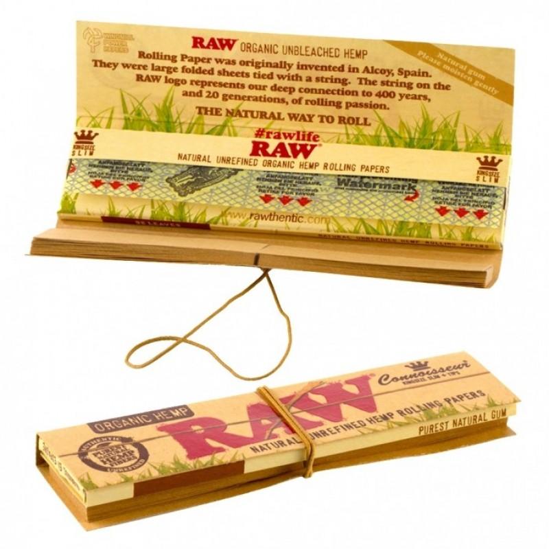 Бумага для самокруток RAW Organic Connoisseur King Size Hemp